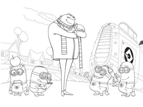 get this despicable me coloring pages online 7a5c0