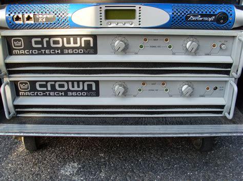 Power Lifier Crown 3600 crown vz 3600 image 442017 audiofanzine