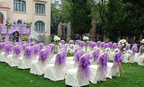 Outdoor wedding venue decorations