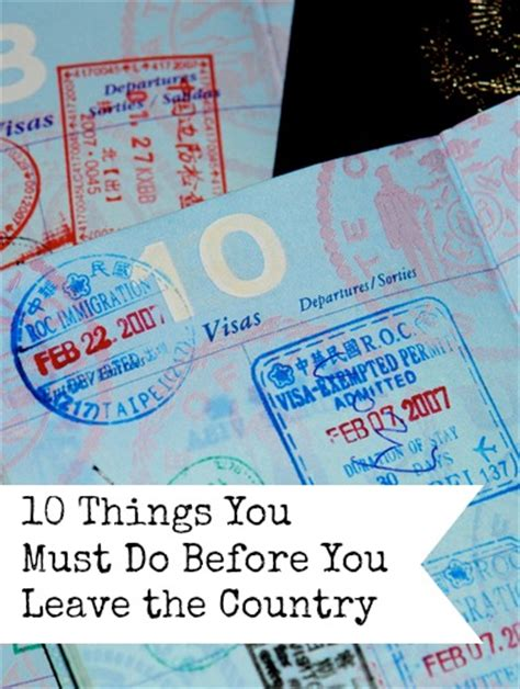 ten things you must do before you die the ultimate list books 10 things you must do before you leave the country