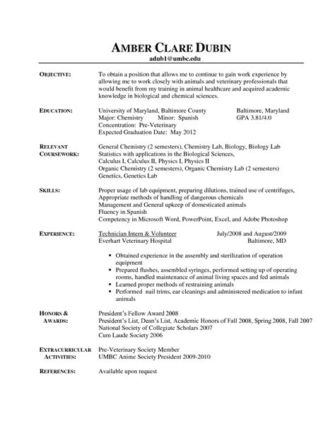 Resume Objective Exles Veterinary Receptionist Best Photos Of Veterinary Receptionist Description Resume Veterinary Technician Resume