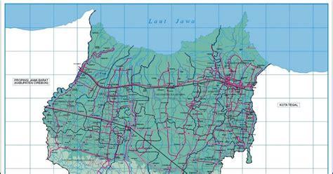 peta kota peta kabupaten brebes