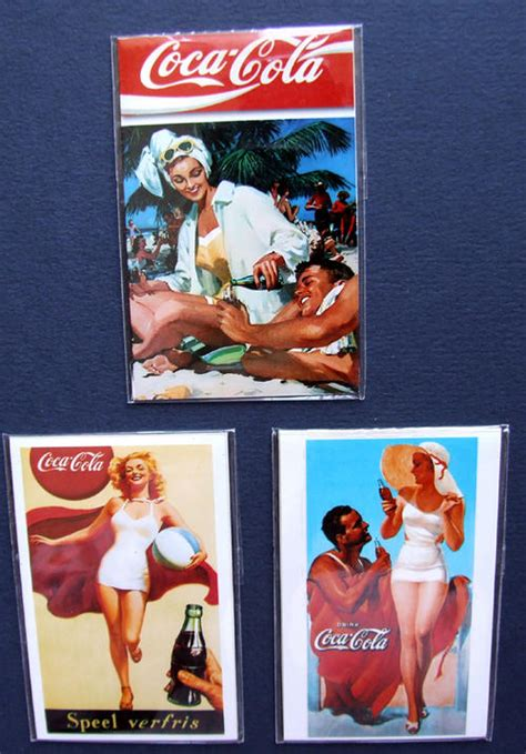 vintage magnet home decor coca cola vintage 3 pk coke advertising set of 3 coca cola coke fridge magnets