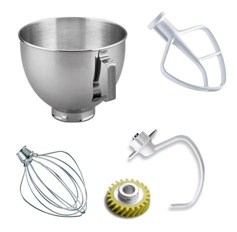 KitchenAid Mixer 4.5 Qt (10) Bowls, (10) Worm Gears & (30
