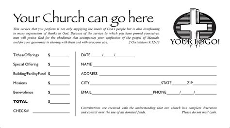 free offering envelope template