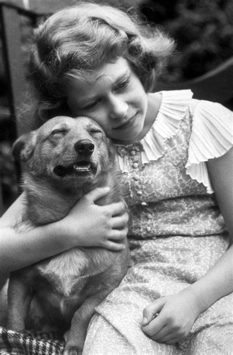 queen elizabeth dog princess elizabeth hugging her corgi ca 1936 i hope to