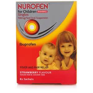 Nurofen for children strawberry fever and pain relief chemist