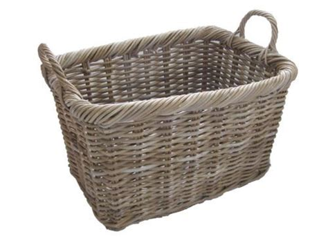 Wicker Log Baskets For Fireplaces by Details About Grey Buff Rattan Rectangular Wicker Log