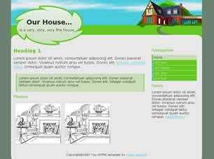 our house free website template free css templates