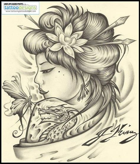 geisha tattoo designs geisha tattoo by jksart image