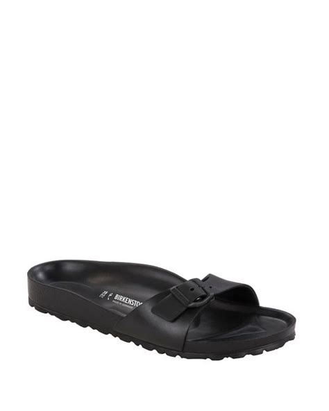 waterproof birkenstock sandals birkenstock madrid waterproof sandals in black lyst