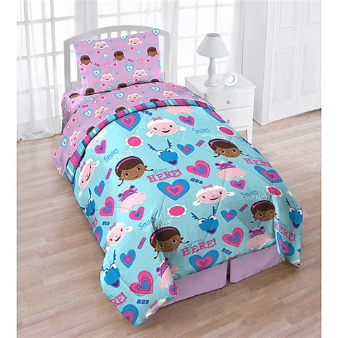 disney doc mcstuffins 4 piece reversible twin bedding set