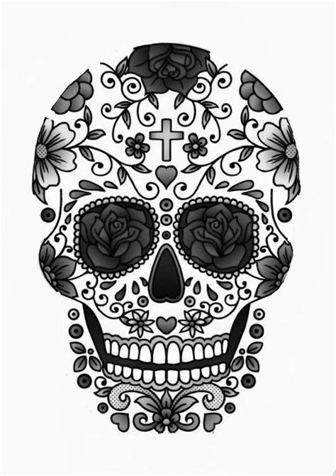 Skull Collage Design Outline by 9 Outline 29 Downright Awesome Sugar Skulls You Re Going To