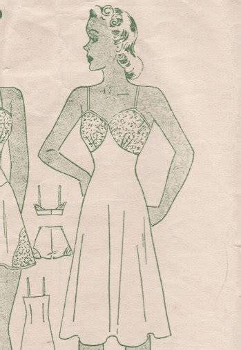 vintage underwear pattern free a few threads loose a compendium of lingerie patterns