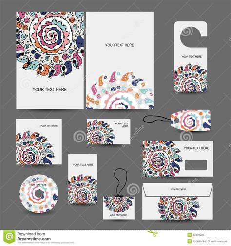design files corporate business style design folder labels stock