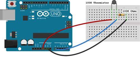 tutorial arduino basic make an arduino temperature sensor thermistor tutorial