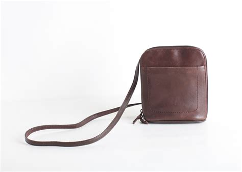 brown leather crossbody vintage brown leather crossbody purse small travel purse