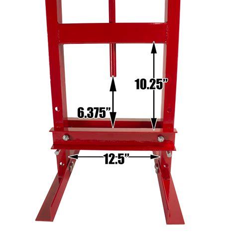 6 ton a frame bench shop press dragway tools 6 ton hydraulic shop floor press with press