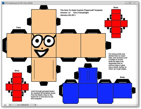How To Make Papercraft - htg projects how to create your own custom papercraft