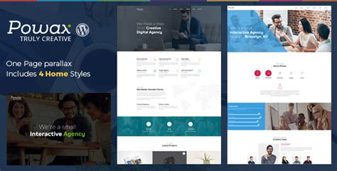 powax template wordpress one page
