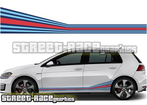 Sticker Stripe Mazda 2 004 vw golf martini racing stripes 004 race org