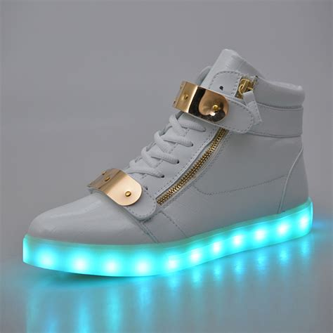 note light up shoes fashion high top led shoes for adults