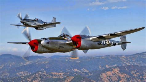 a cool pair p 38 p 51 lightning mustang p 38 p 51 19517