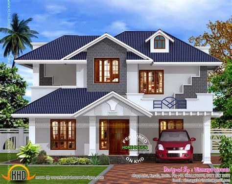 kerala style villa exterior kerala home design  floor