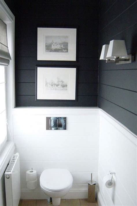 black painted bathroom get the look shiplap walls powder bath and love the
