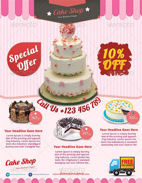 cake flyer template free cake shop flyer templates free templates resume