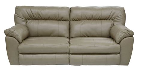 catnapper nolan leather power sectional sofa set putty