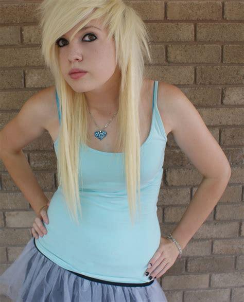 blonde emo hairstyles emo scene hairstyles images blonde scene girl hd