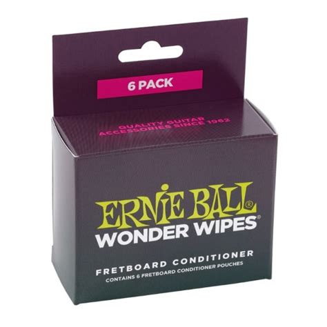 ernie 4276 wipes 6 pack fretboard conditioner accessories from strings direct uk