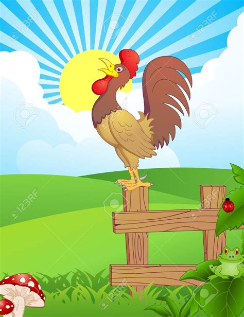 morning clipart rooster clipart morning pencil and in color rooster