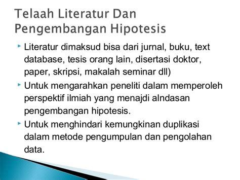 jurnal membuat hipotesis metode penelitian first