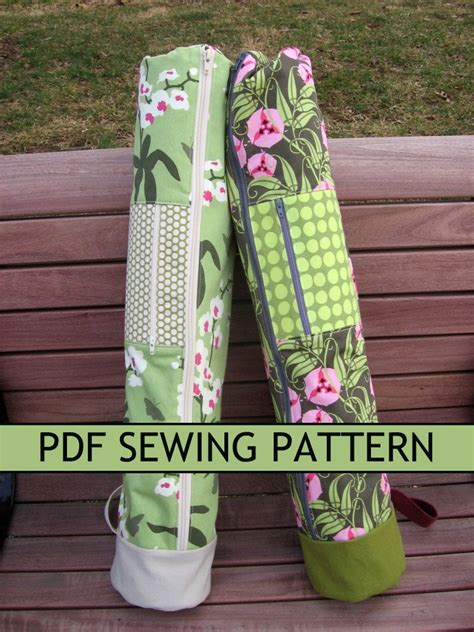 yoga mat case sewing pattern yoga mat bag pdf sewing pattern