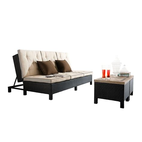 couch and chaise lounge set sirio euro patio double chaise lounge sofa set starsong