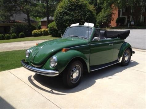 find  restored  vw convertible dark green