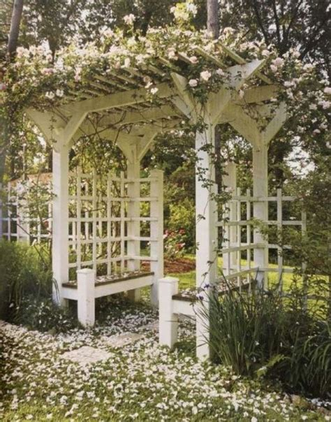 bench with arbor pinterest