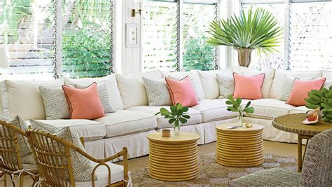 tropical themed living room using tropical accessories lestnic classic tropical island home decor coastal living