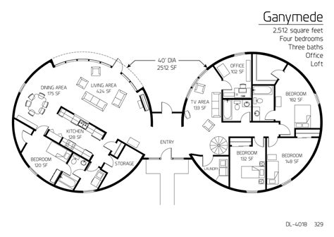 dome home plans floor plan dl 4018