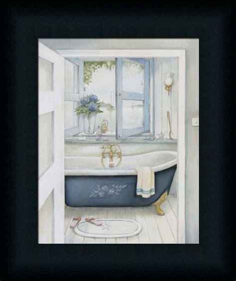 framed bathroom art blue hydrangea bath bathroom decor art picture framed ebay