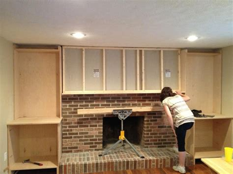 Fireplace Build Out built ins and fireplace makeover one project closer