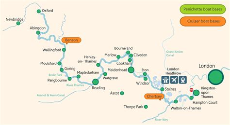 River Thames At Windsor Map | river thames boat hire in the uk boating holidays