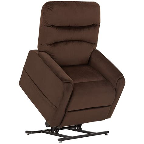 city furniture ruby dk brown fabric power lift recliner