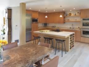 Open Kitchen Floor Plans With Islands Contemporary Living Space Photos Hgtv