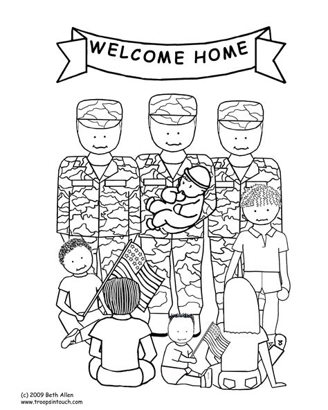 welcome coloring pages for toddlers welcome home troops coloring page coloring page gallery