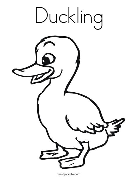 duckling coloring page twisty noodle
