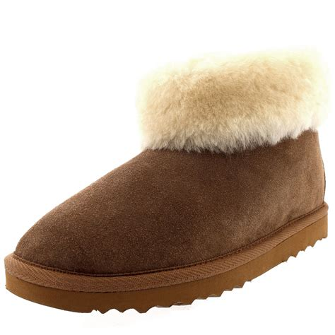 thick sole slippers womens genuine sheepskin thick cuff fur lined rubber sole
