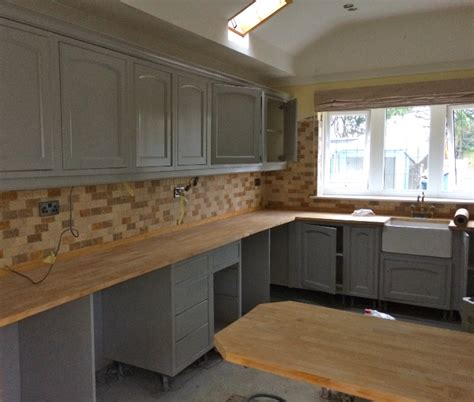 blue grey painted kitchen by peter henderson furniture what paint for kitchen cabinets uk home fatare
